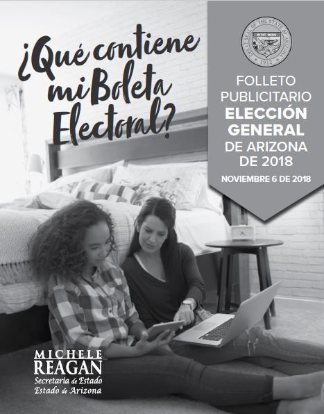 2018 General Election Publicity Pamphlet in Spanish