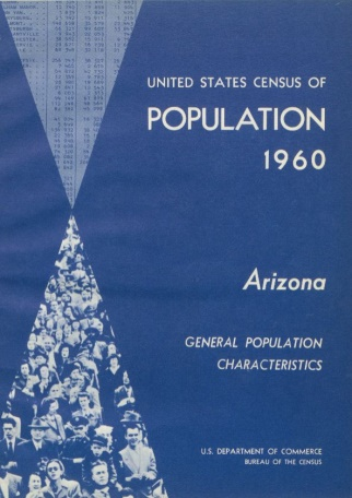 Blue book cover: United States Census of Population 1960 General Population Characteristics US Department of Commerce Bureau of the Census