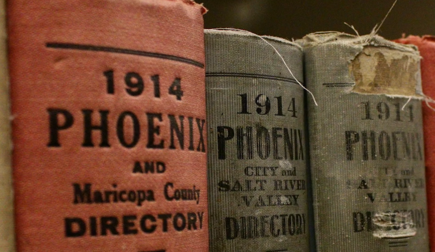 Set of books from the 1914 Phoenix Directory